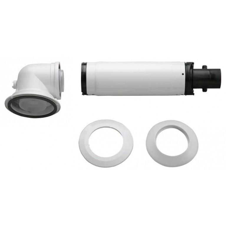 Коаксиальный горизонтальный комплект Bosch AZB 916 отвод 90° + удлинитель 990-1200 мм, 60/100 мм