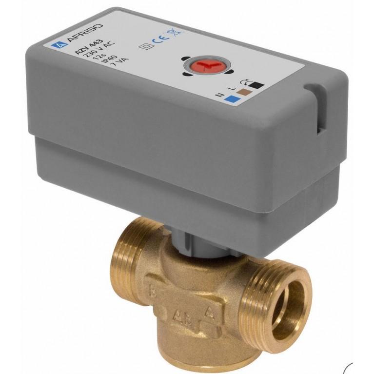 Переключающий 2-ходовой клапан Afriso AZV G 1 DN20 kvs 11 (с кабелем) н/з