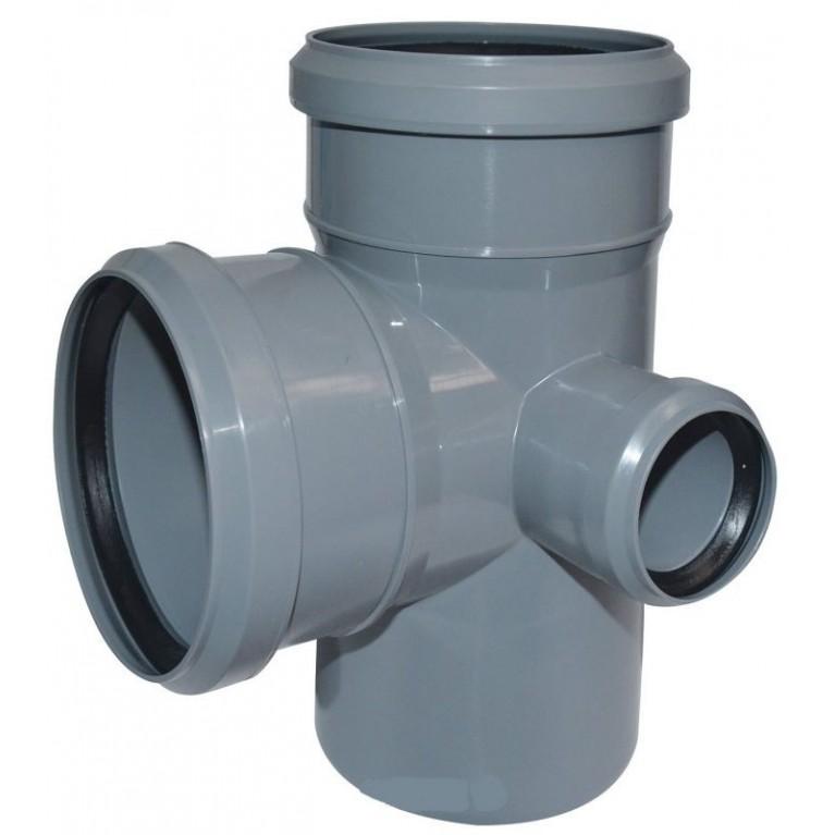 Купить Крестовина канализационная двухплоскостная Valsir 100/100/50 87° у официального дилера Valsir в Украине