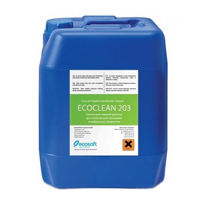 Промывочный кислотный реагент Ecosoft ECOCLEAN 203 10 кг