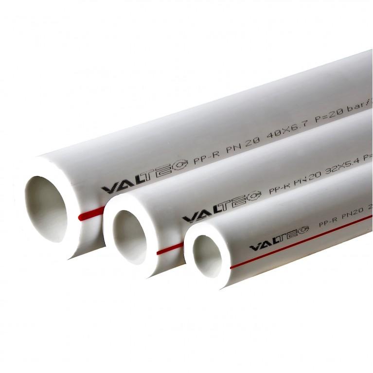 Полипропиленовая труба Valtec PP-ALUX арм. алюминием PN25 32 MM (белый)
