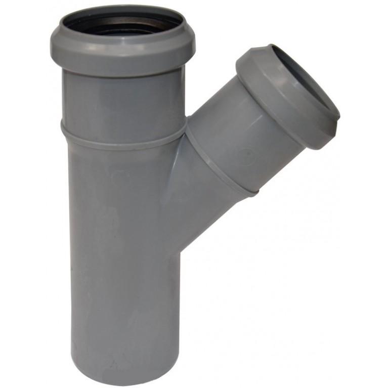 Купить Тройник канализационный Valsir 50/50 45° у официального дилера Valsir в Украине
