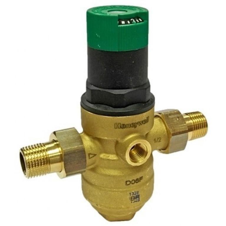 Редуктор давления мембранный Honeywell D06F-1/2B на горячую воду