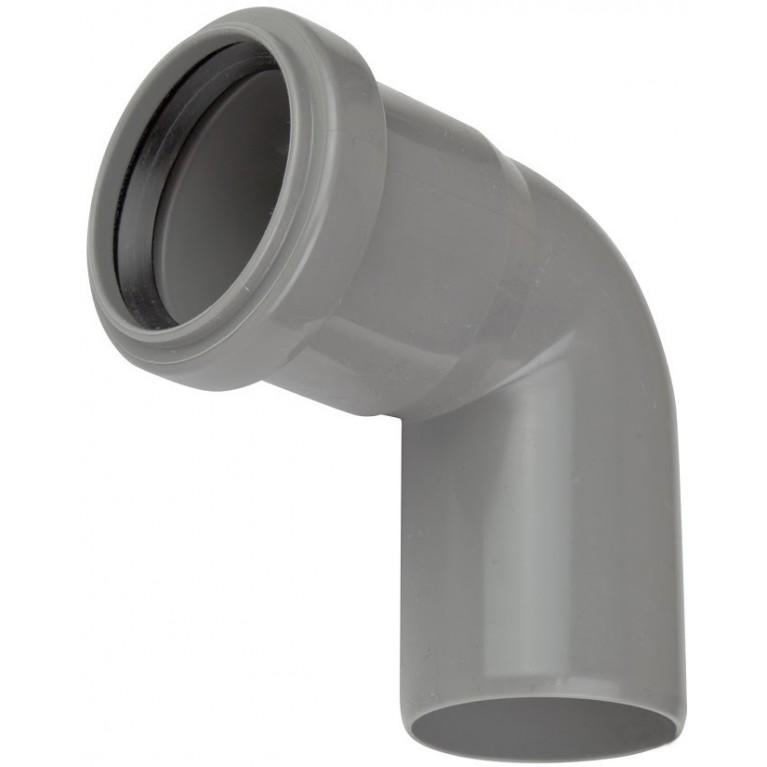 Колено канализационное Valsir 100 87°
