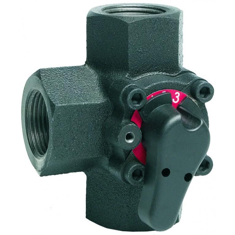 3-х ходовой клапан поворотный PN6, DN20, Kvs 6.3 м3/ч, 2…110 °C, вн. резьба