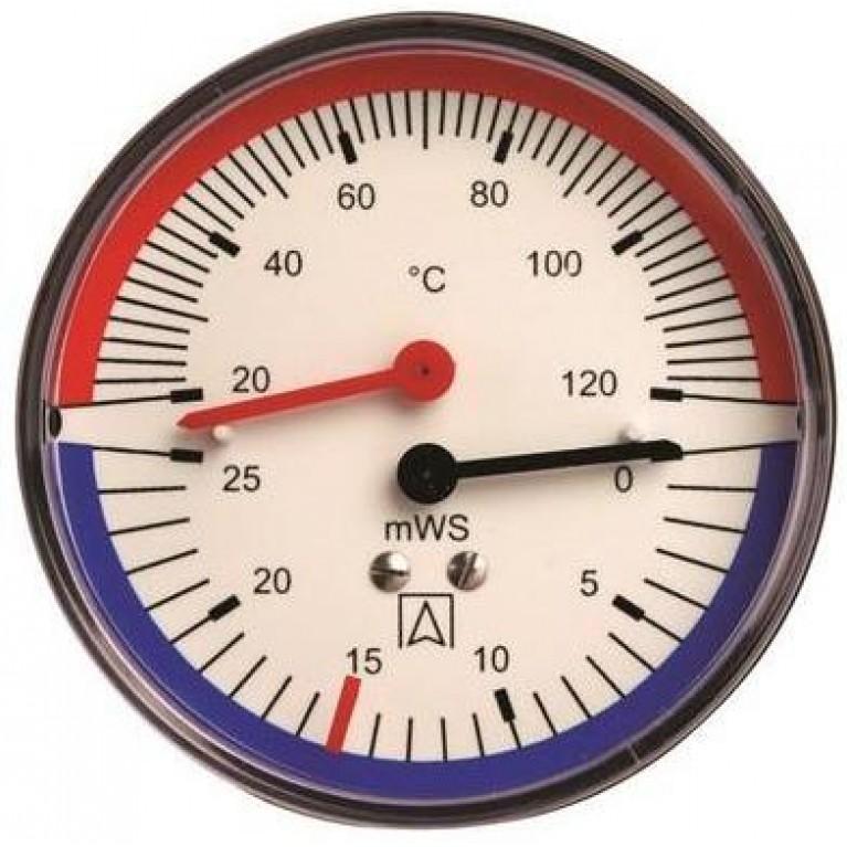 Термогидрометр аксиальный TH Afriso 20-120°С,80мм,0-60 м вод. ст.,1/2