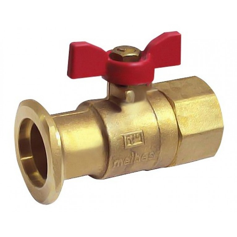 """Запорный шаровый кран с фланцем и обратным клапаном FL xВP 11/4"""" (Ду 32 мм) под гайку НГ 2"""""""