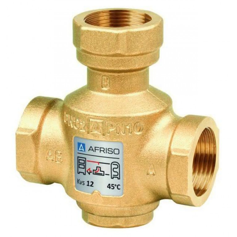 Термический трехходовой клапан Afriso ATV 335 Rp 1 DN25 kvs 9 T=55ºC