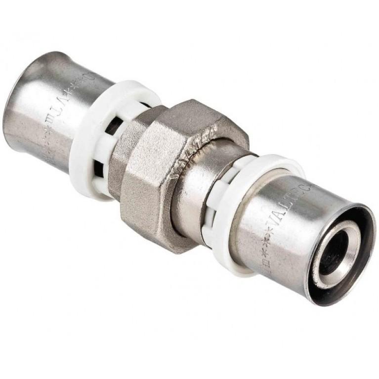 Разъемное соединение Valtec VTm.263.N пресс-фитинг, латунь ник. 32 мм