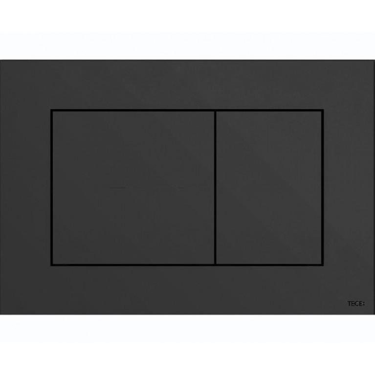 Панель двойного смыва TECEnow для унитазов (черная)