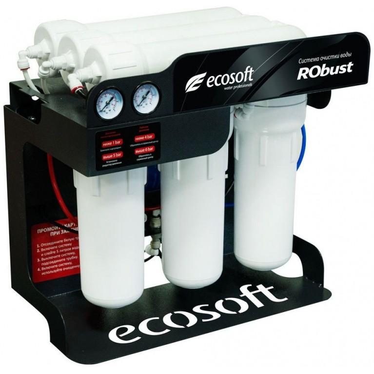 Обратный осмос Ecosoft ROBUST 1000 (60 л / ч) 3x1812-100 диафрагменные, 80 Вт