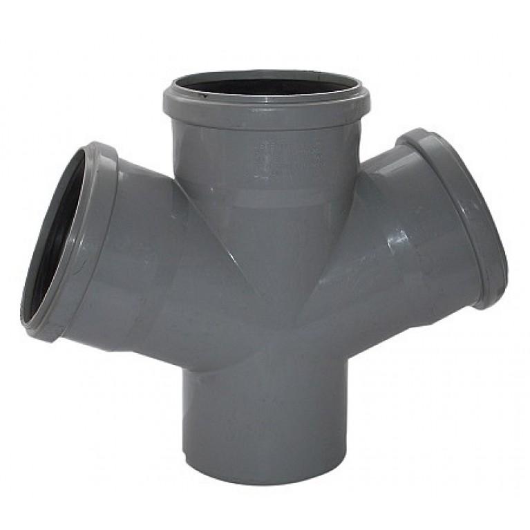Крестовина канализационная Valsir 67° 100/100/100