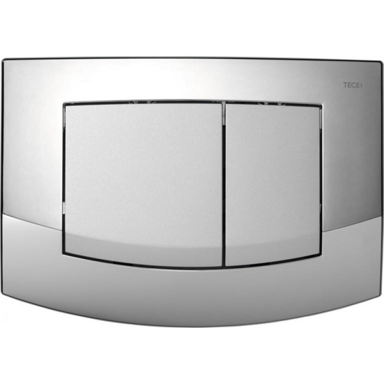 Панель двойного слива для унитаза TECEambia (хром матовый)