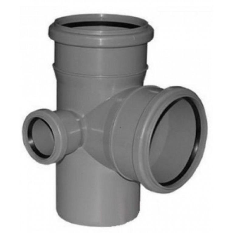 Крестовина канализационная двухплоскостная Valsir 100/50/100 67°