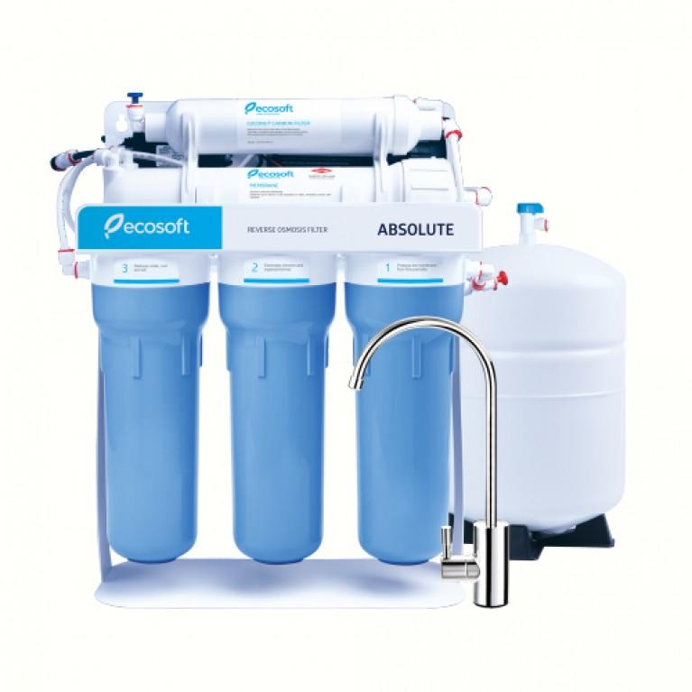 Фильтр обратного осмоса Ecosoft Absolute 5-50Р с помпой на станине