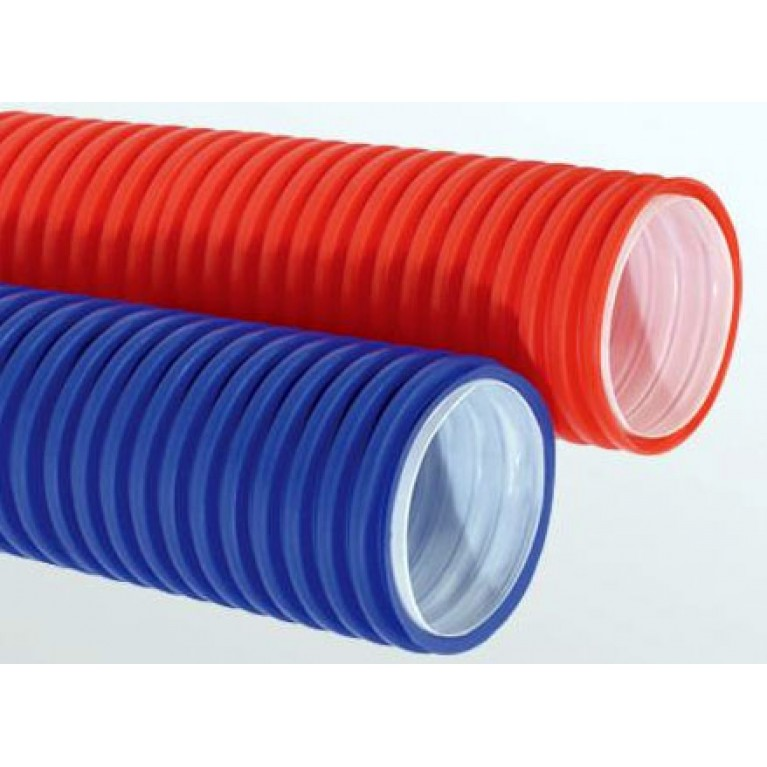 Купить Труба защитная гофрированная (пешель) 25-26 красная у официального дилера Kan в Украине