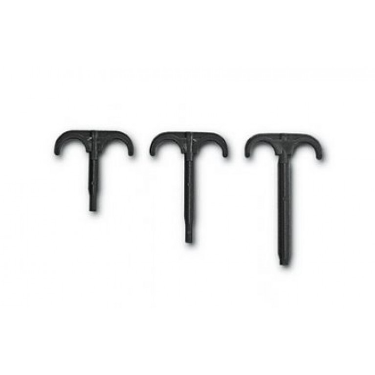 Крюк пластмассовый для труб двойной 14-25 (L=80mм)