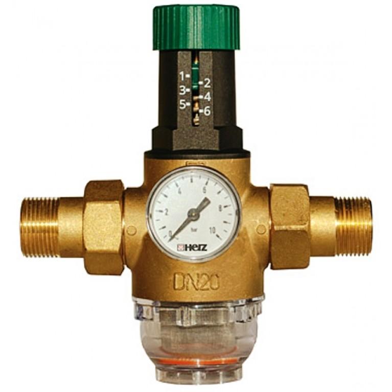 Редуктор давления мембранный Herz DN15 1/2 (1268211) для холодной воды