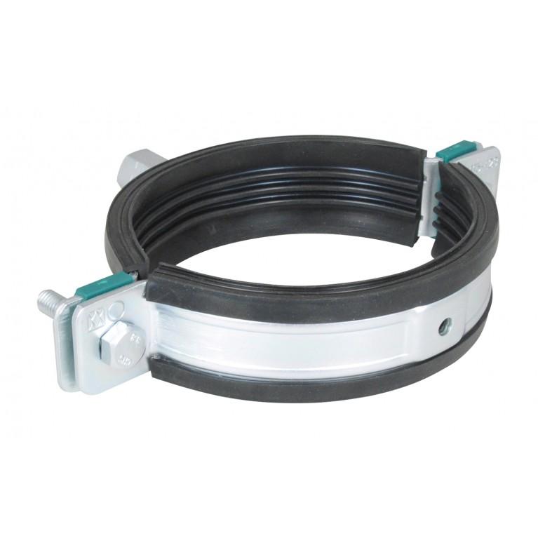 BIS HD1501 Хомут для больших нагрузок с резин. изоляц. М10/12 217-227мм