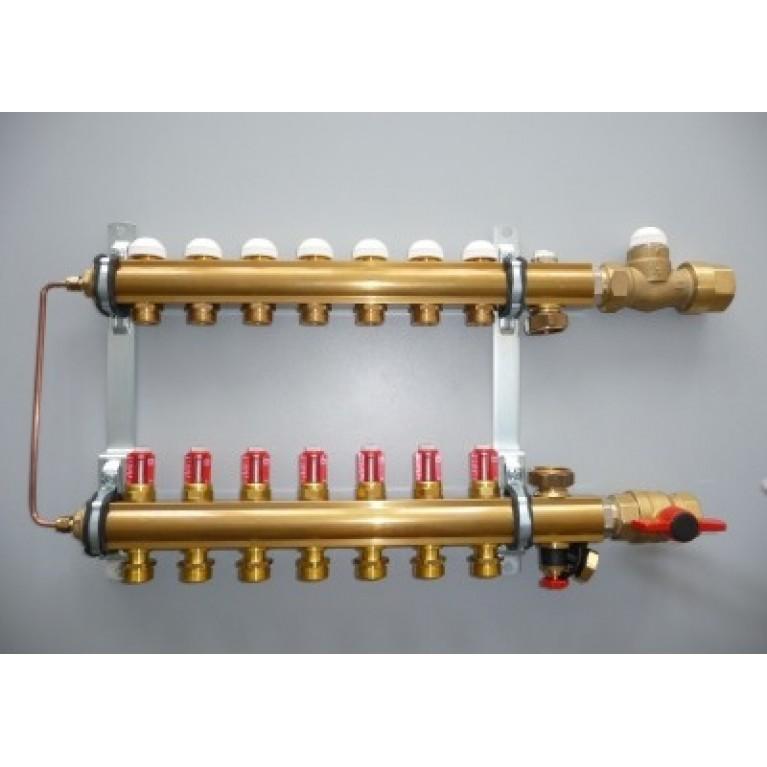 Модуль управления для напольного отопления ,подключение снизу .COMPACTFLOOR light SK,(4 отвода),3/4