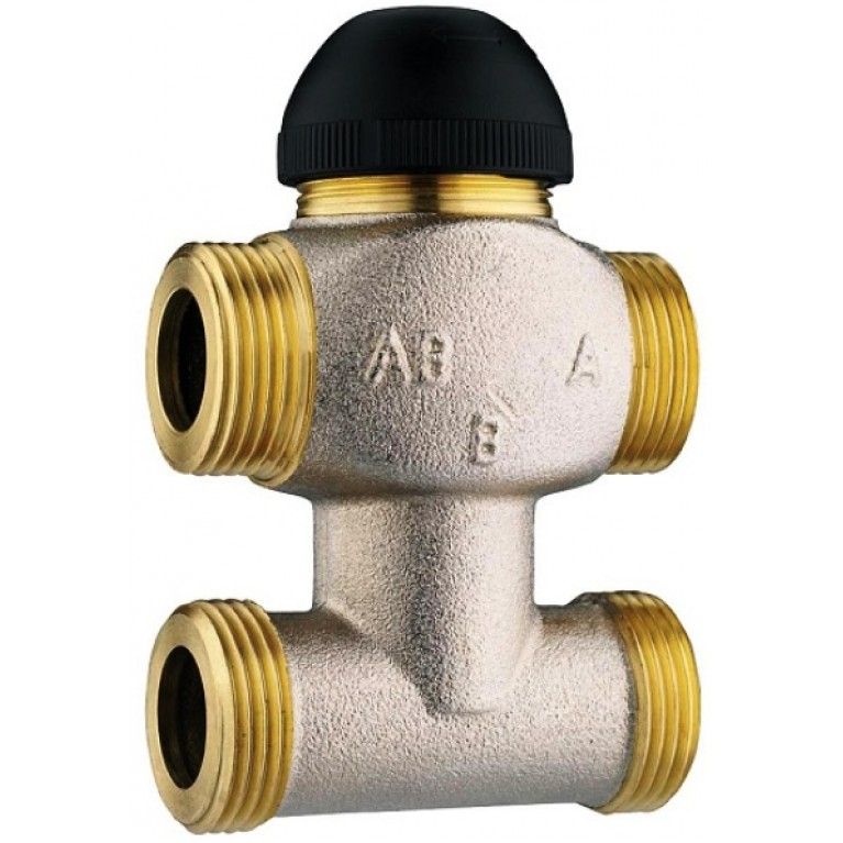 Трехходовой термостатический клапан  с байпасом, kvs 2,5 , DN 15