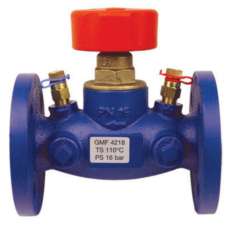 Балансировочный вентиль HERZ STROMAX- GMF с измерительными клапанами , DN 100, фланцевый