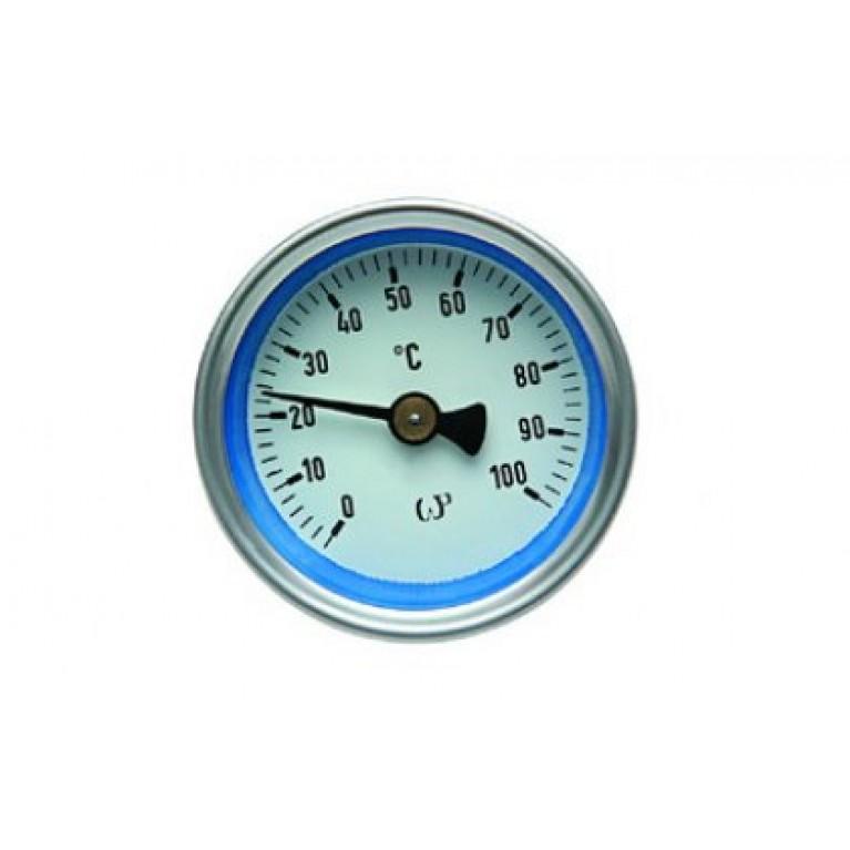 Термометр торцевой 100*С (красный)