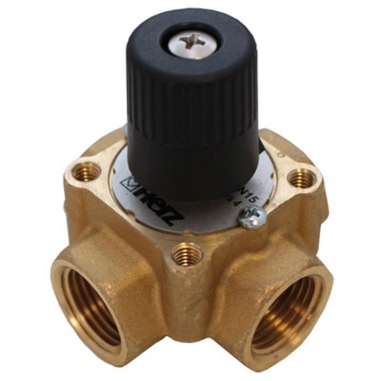 Трехходовой смесительный клапан, kvs 10, DN 25 ВР, корпус и шар из DZR-латун