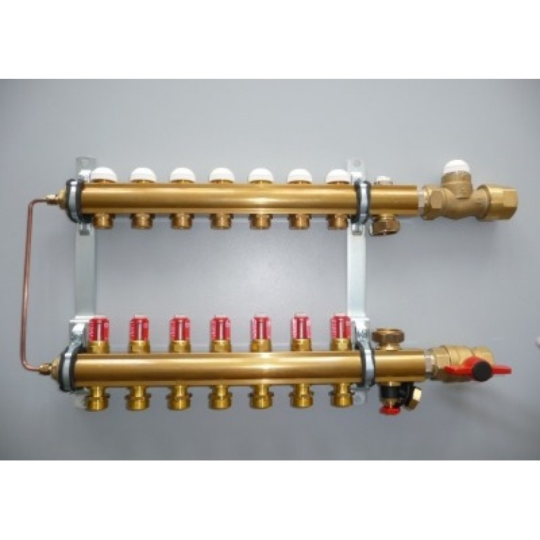 Модуль управления для напольного отопления ,подключение снизу .COMPACTFLOOR light SK,(12 отводов)