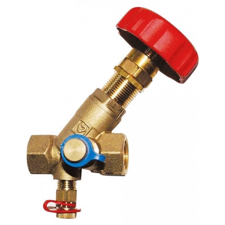 Балансировочный вентиль HERZ STROMAX-М,для регулирования расхода и измерения перепада давл. DN 25