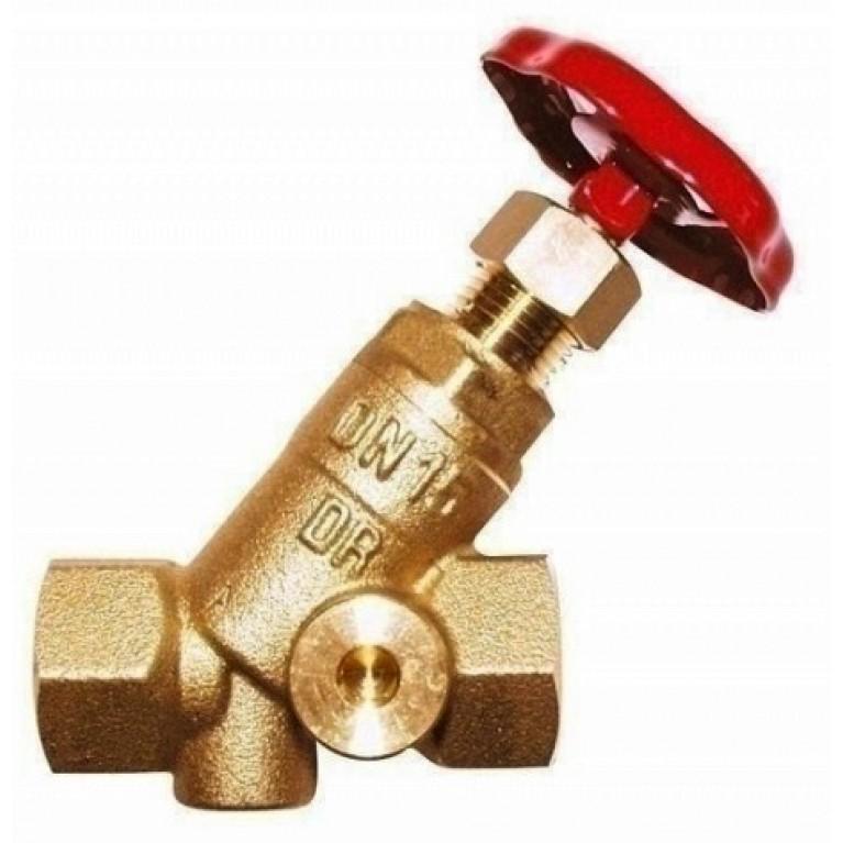 Запорный вентиль HERZ STROMAX-4115 , c двумя отверстиями для регулирования расхода DN 65, резьбовой