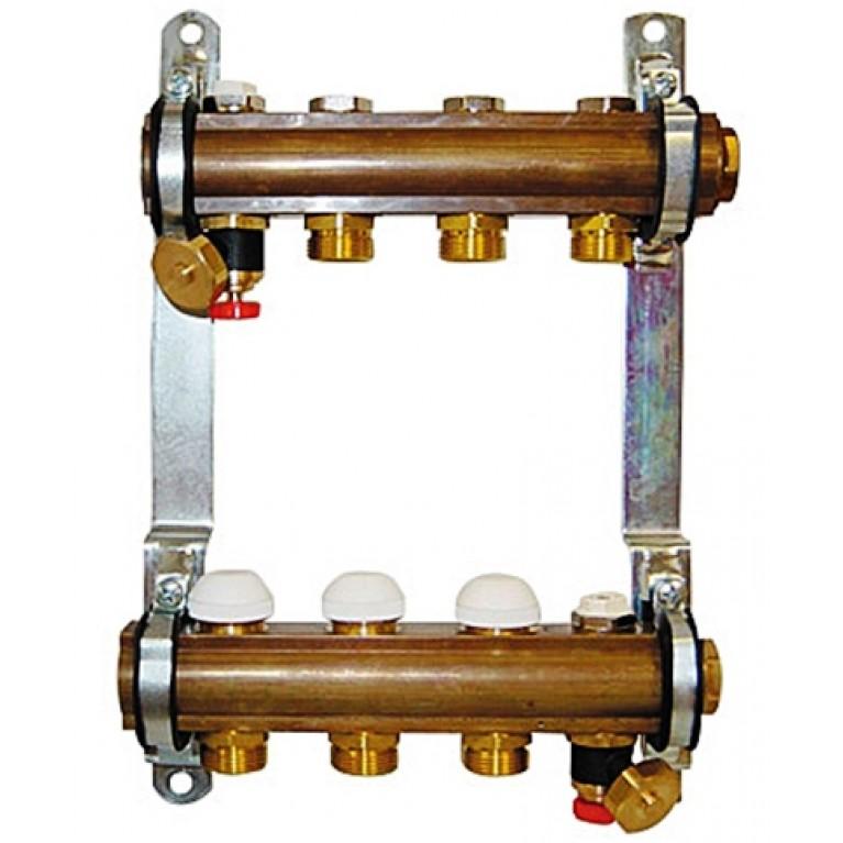 Купить Коллектор для теплого пола Herz G 3/4 на 7 контуров без расходомеров у официального дилера Herz в Украине