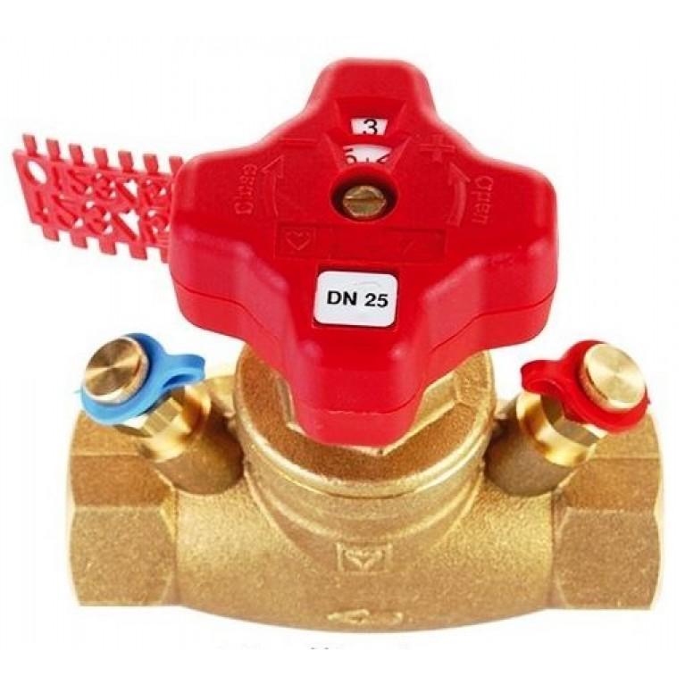 Балансировочный вентиль HERZ STROMAX- GM с измерительными клапанами, DN 32, резьбовой