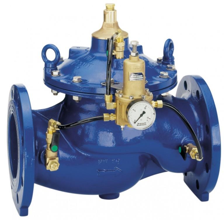 Регулятор давления фланцевый DN100 PN16 Tmax 80°С настройка 1.0-12.0 бар