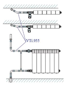 Отвод безраструбный Valtec нержавеющая сталь 22 х 22 мм, 15°, VTi.955.I.152222, схема - 1